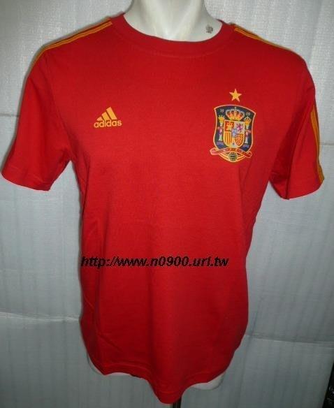 【n0900台灣健立最便宜】(2018世界盃足球賽相關商品賣戈報人來啊)ADIDAS 西班牙隊足球短袖T恤-P83172