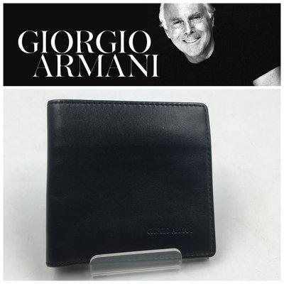 【皮老闆二店】二手真品 Giorgio Armani 錢包 皮夾 短夾 L408