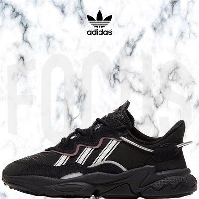 【FOCUS】全新 ADIDAS ORIGINALS OZWEEGO 黑色 反光 老爹鞋 女鞋 EG0553