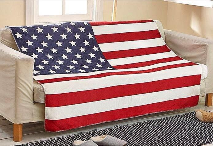 樂多百貨 外銷歐美熱賣款美國國旗 英國國旗羊羔絨休閒蓋毯/沙發罩/活性印染/另有英國/天鵝絨珊瑚絨/非IKEA HOLA
