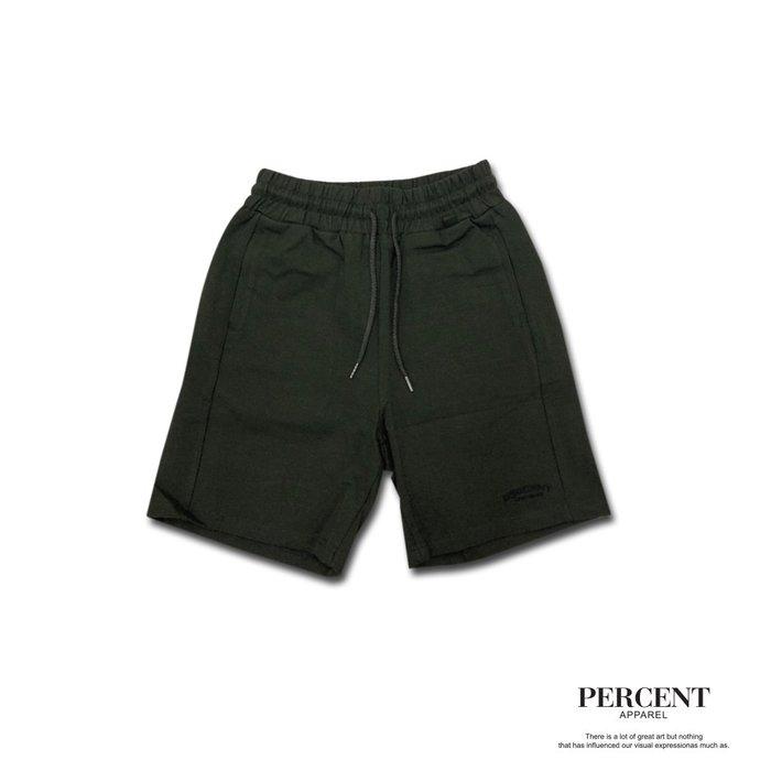藤原本鋪 PERCENT% CS5002 基本剪裁棉短褲 綠色