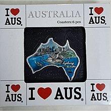 5塊 澳洲 悉尼歌劇院 悉尼海港大橋 景色 地圖 杯墊Coaster 禮物