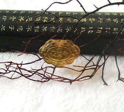 □§Disk的天然水晶§□【長命富貴】天然緬甸琥珀 金藍珀 長命富貴平安鎖小雕墜(12x19x7mm 1g)JX-19