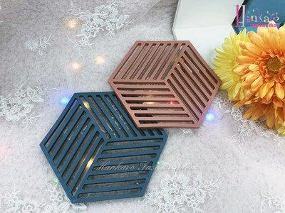 ☆[Hankaro]☆北歐創意幾何六角形矽膠防滑杯墊