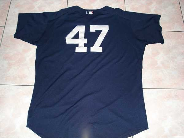 MLB NY YANKEES #47 RODRIGUEZ 05 GAME USED BP JERSEY--STEINER