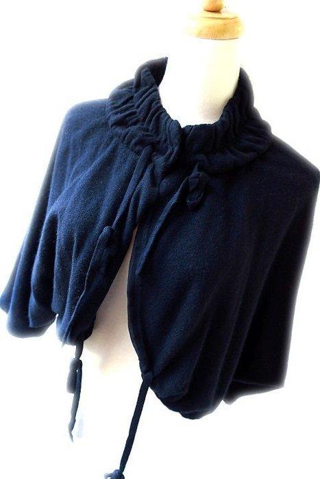 *Beauty*義PHILOSOPHY DIALBERTA FERRETTI黑色絲裡羊毛罩外套I42號6900元