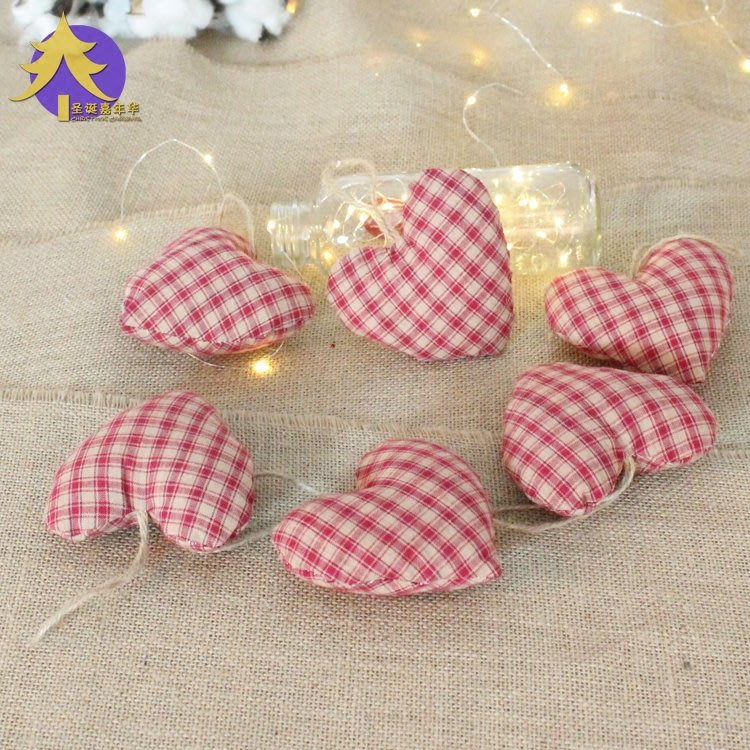 精美宜家~圣誕嘉年華 圣誕節裝飾品 ins毛絨愛心掛件 圣誕樹花環櫥窗裝飾品