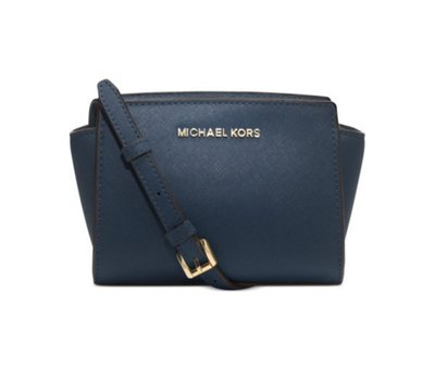 Coco 小舖 MICHAEL Michael Kors Selma Mini Messenger Bag 深藍色