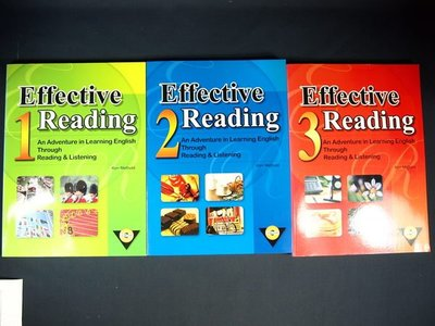 【考試院二手書】《Effective reading 1~3(附光碟)》ISBN:986810002X│Ken Methold│九成新(32Z27)