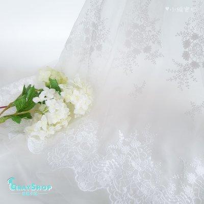 夢幻白色蕾絲網紗 紗布 背景布 蕾絲繡花 網拍攝影道具 拍照道具 飾品美食雜貨 增加照片質感《GrayShop》