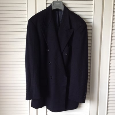 歐碼50 Hugo Boss 黑標 25%喀什米爾羊毛黑色雙排扣西裝