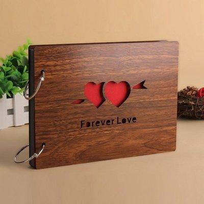 木質diy相冊 手工粘貼式相冊寶寶成長紀念冊情侶浪漫創意生日禮物『舒心生活』