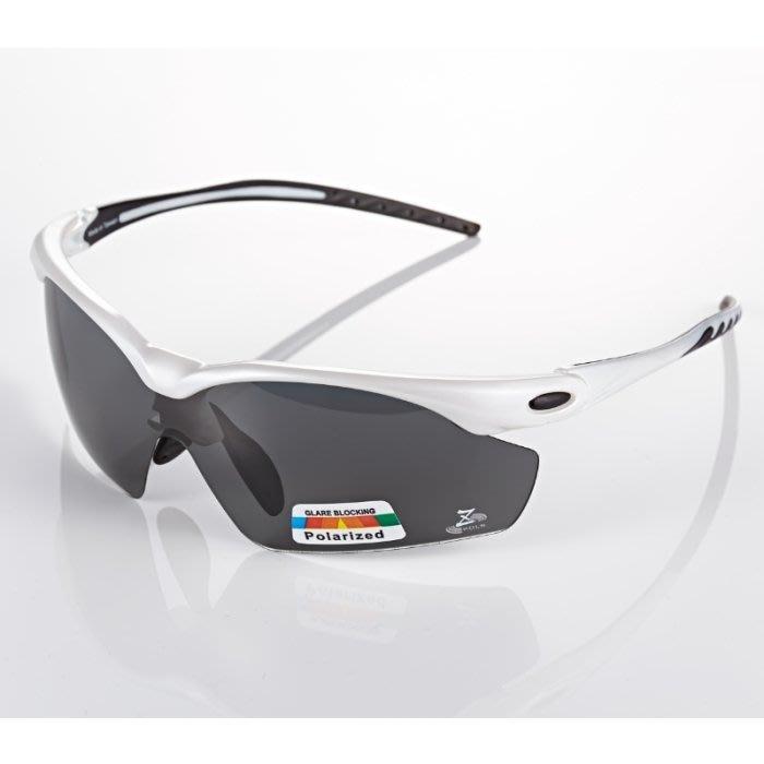 【視鼎Z-POLS太空纖維三代款】新一代TR彈性輕量材質搭載100%Polarized頂級偏光運動眼鏡!(珍珠白)