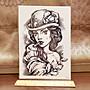 【萌古屋】玫瑰女手臂大圖 - 防水紋身貼紙刺青貼紙HB-803