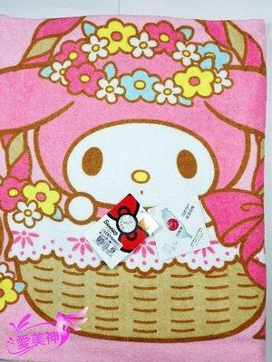 【B合併商品】101813B正版 美樂蒂與蝴蝶結浴巾 大浴巾 台灣製 $259