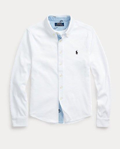Ralph Lauren POLO 小馬 棉質襯衫 長袖 襯衫 青年款 白色