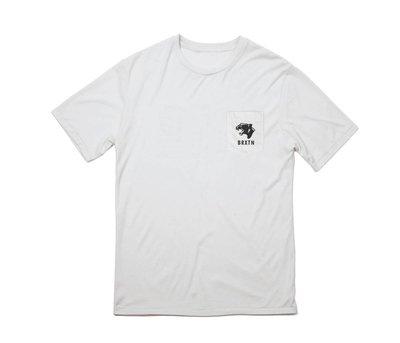 [CABA'S滑板店] BRIXTON TRENTON POCKET TEE 白色   滑板 口袋 黑豹 加州