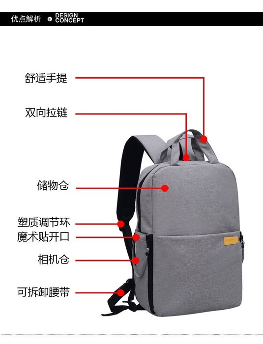 送防水袋* 多功能休閒旅行雙肩後背包 多功能相機包 旅行包 外出包 雙肩包 單眼相機 休閒包 現貨