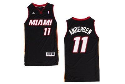 【 ♥ Roda shop ♥ 】NBA 球衣 邁阿密 熱火隊 Andersen #11 安德森 客場 季後賽 黑色