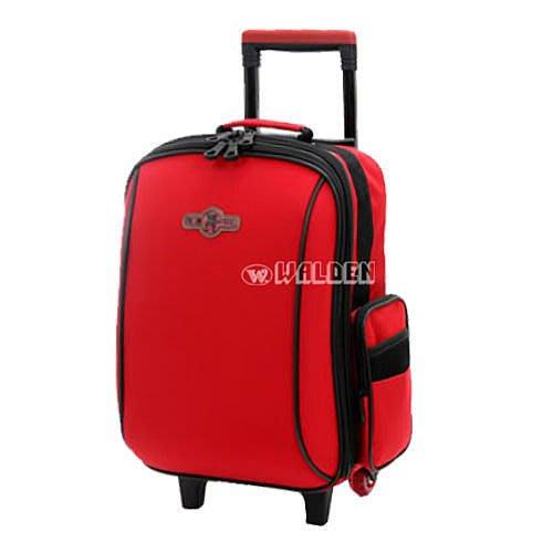 【葳爾登】UNME拉捍小學生書包,超輕背包,兒童拉桿旅行箱pu靜音輪胎大容量護脊書包3310紅色