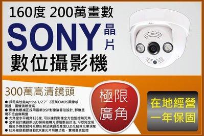 室內半球型 1080P 極限廣角 1.44MM 180度 畫面無變形300萬魚眼鏡頭 支援 AHD TVI CVI類比