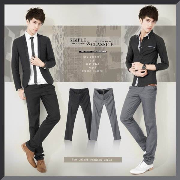 。SW。【K32107】零碼出清 韓 雅痞感 修身顯瘦 質感紋扣 同色口袋邊 微彈性 輕 素面西裝褲 Dior版型