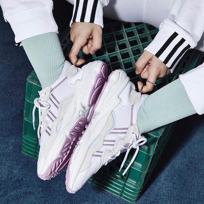 [RG專業代購] 3色登場 Adidas Ozweego Shoes Purple 女神修腿時尚老爹鞋(+)