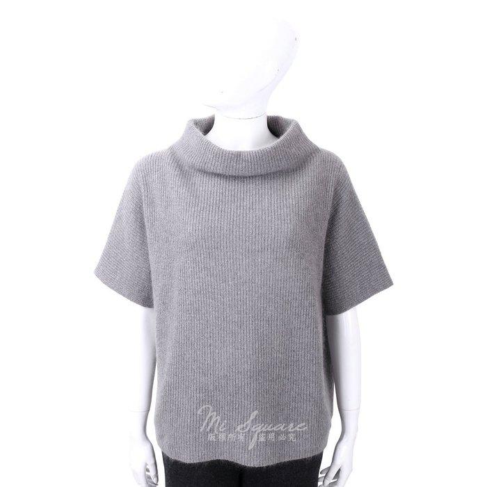 米蘭廣場 FABIANA FILIPPI 馬海毛坑條紋灰色立領美麗諾羊毛衫 1810027-06