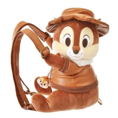 ~*~佑子物語~*~全新日本正版迪士尼花栗鼠奇奇可愛公仔娃娃造型斜趴小背包