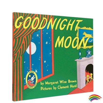 送音頻 英文原版美國進口Goodnight Moon晚安月亮廖彩杏推薦書單 兒童英語經典啟蒙繪本寶寶睡前100本故事圖畫書0-6歲good night