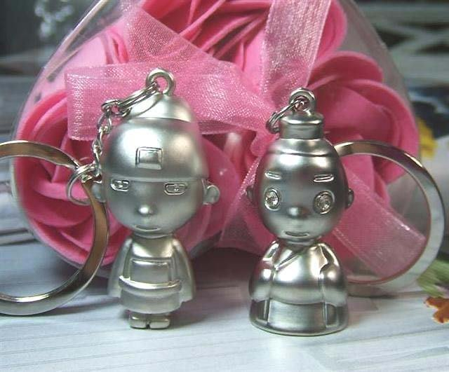 ☆創意小物店☆情侶鑰匙扣(狀元相公娘子) 鑰匙圈/創意可愛金屬鑰匙圈 時尚造型個性飾品