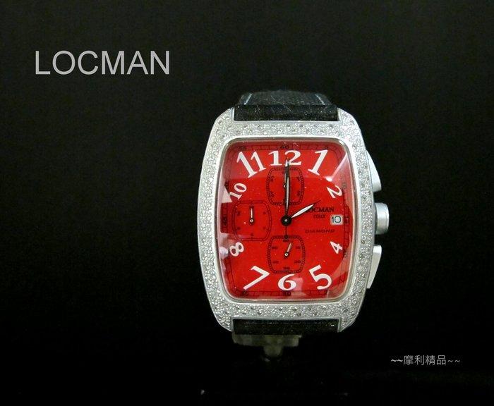 【摩利精品】LOCMAN 鋁合金鑽石計時錶  *原鑲真鑽* 低價特賣