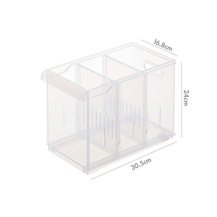 『6個以上另有優惠』 LF2003隔板整理盒(附輪) /浴室收納/廚房收納/辦公室文具收納/小物收納/PP盒/冰箱收納/