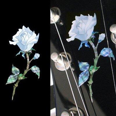 [園之屋] 現貨 日本 Inlay sticker 迷你純潔玫瑰 民謠吉他 電吉他 琴頭貼紙