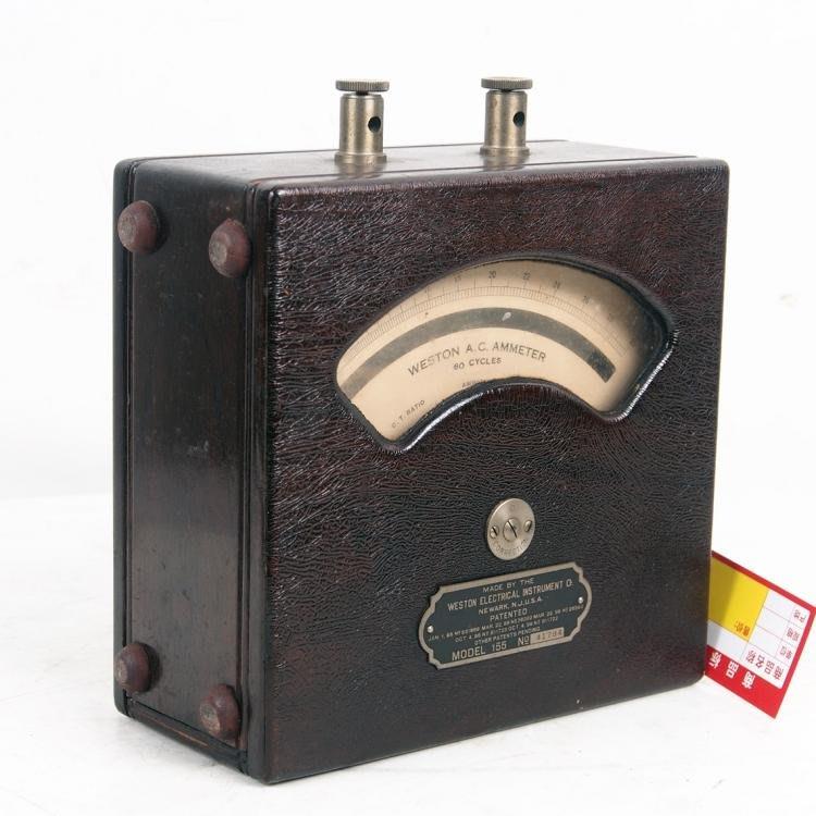 百寶軒 稀有孤品西洋古董儀錶收藏韋斯頓電WestonElectrical交流電流表 ZG2937