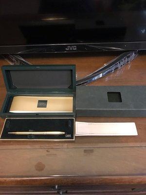 鋼珠筆.高仕 10K鋼珠筆.CROSS SINCE1846 1/20 10KT ROLLED GOLD
