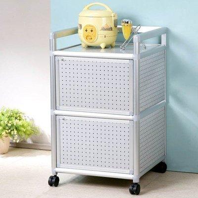 鋁合金1.5尺二門收納櫃 電器架 碗盤架 餐櫃 免運 廚房【Yostyle】 SH-1519-117152