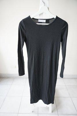 轉賣 台製東京著衣長袖洋裝打底洋裝 sizeS 黑色