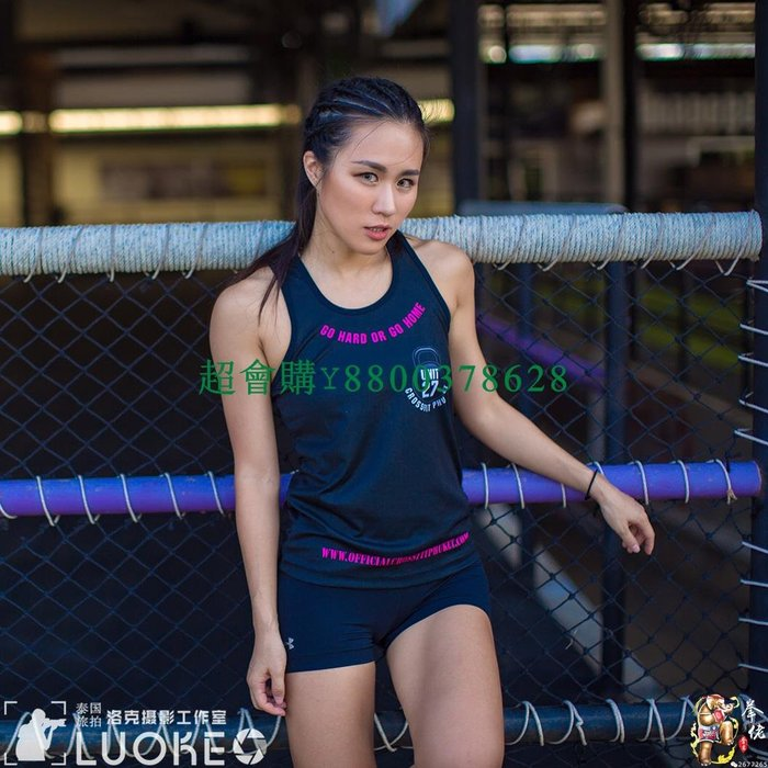 超會購泰國進口Unit 27印花 速干 健身泰拳散打拳擊運動女士休閑背心