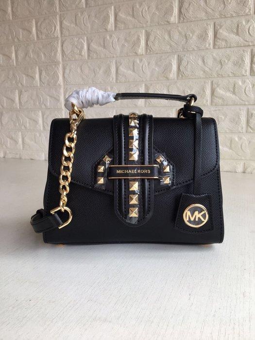 【紐約精品舖】MK女包  Michael Kors包包 鉚釘手提包 單肩斜跨包 美國Outlet代購100%正品 附購證