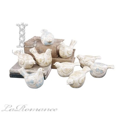 【Creative Home】Cottage Chic 法式田園系列陶瓷小鳥擺飾 (小,共九款)