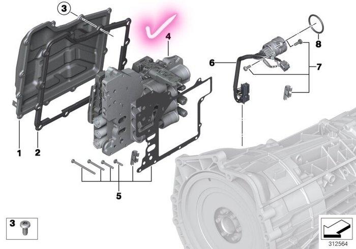 BMW  E9X M3 變速箱閥體 變速箱電腦 MDCT 變速箱電腦 變速箱閥體 BMW 正廠零件