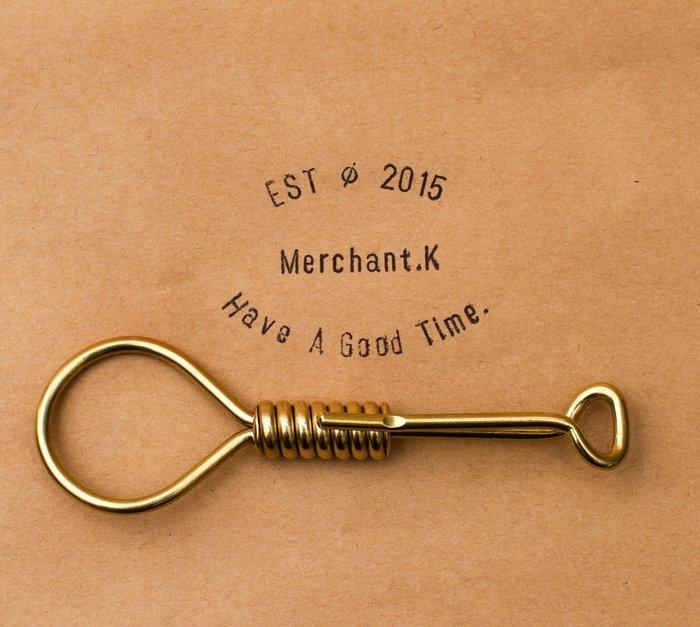 Jeff Decker 全黃銅 鑰匙圈 限量復刻版 余文樂 哈雷 重機 養牛 復古 supreme 絞刑鑰匙圈 鑰匙扣
