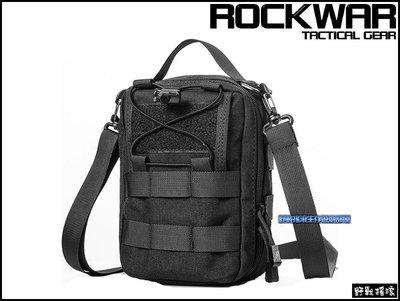 【野戰搖滾-生存遊戲】ROCKWAR 側背式戰術醫療包【黑色】側背包急救包雜物包單肩包特警勤務包迷彩腰包 新北市