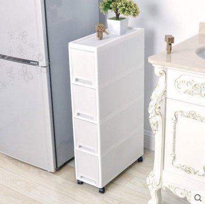 『格倫雅』夾縫置物架廚房冰箱旁18CM寬縫隙儲物櫃衛生間可移動夾縫收納櫃^21715