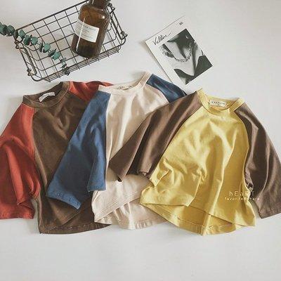 【可愛村】文青風復古蝙蝠袖寬鬆T恤 童裝 上衣 T-shirt