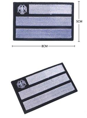 JHS((金和勝 生存遊戲專賣))俄羅斯 國旗 雙頭鷹 魔鬼氈 刺繡臂章 9067-16
