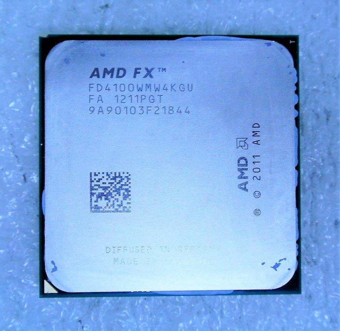 ~ 駿朋電腦 ~ AMD FX-4100 Quad-Core 3.6Ghz/AM3+ 四核心CPU $500