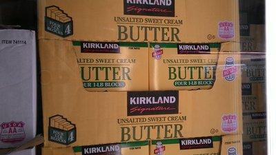 【日日小舖外送代購】好市多 Kirkland 無鹽奶油 每組453克*4 美國製