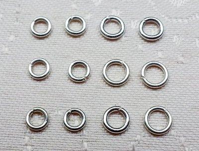 嗨,寶貝手創飾品* 925純銀 DIY串珠配件☆4mm c圈扣環  DIY銀配件定位珠 扣環(開口較粗款) 10個一起售